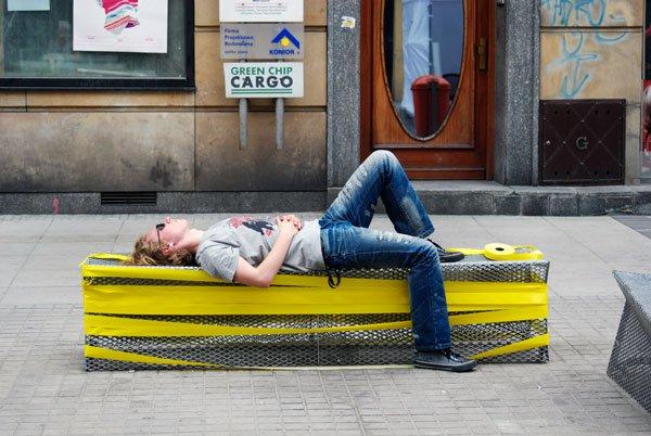 Czasem wolontariusz też musi odpocząć. fot. Szymon Orłowski