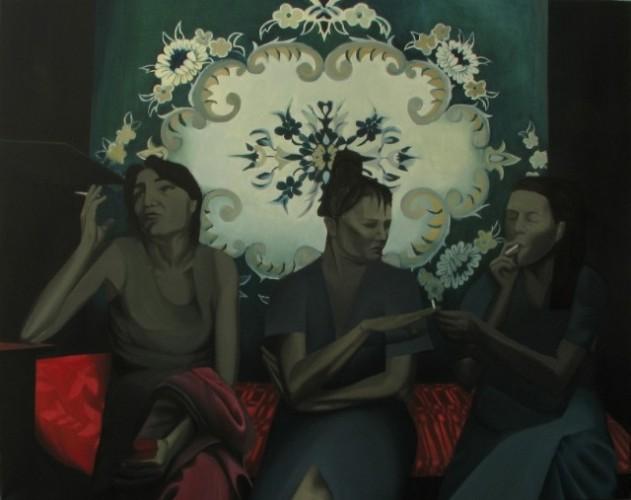 Palarnia, 2011, olej na płótnie, 160x200 cm