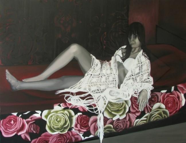 Różyczka, 2011, olej na płótnie, 150x200 cm