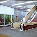 """Ruchome schody w """"Skarbku"""", zdjęcie z prywatnych zbiorów Juranda Jareckiego"""