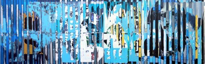Piotr Kossakowski, Miasto, 2004 r., wymiary : 140x440cm
