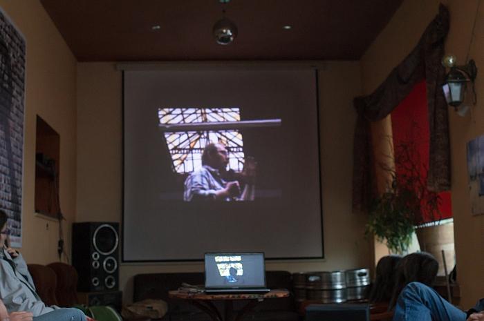 Projekcja filmu poświęconego działaczom związkowym z Poznania. Fot. M.Denisiuk