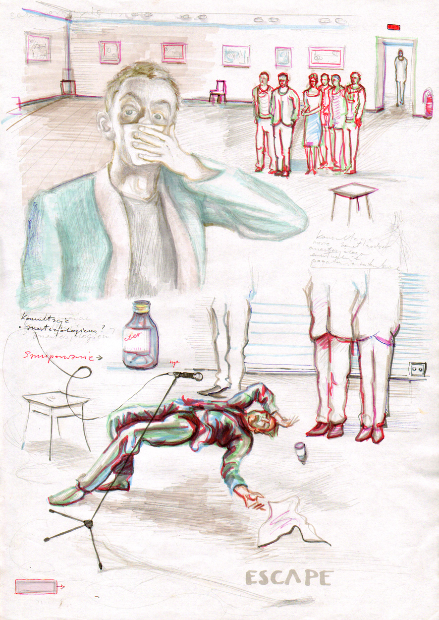 ilustracje Oskara Dawickiego, udostępnione ze strony www.wpolowiepuste.blogspot.pl