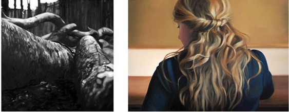 Baśka Wesołowska, Portret Z., dyptyk, olej na płótnie, 2012