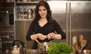 Nigella Lawson in her new Italian cookery TV series, Nigellissima