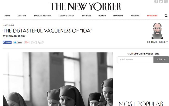 """recenzja """"Idy"""" na stronie """"New Yorkera"""""""