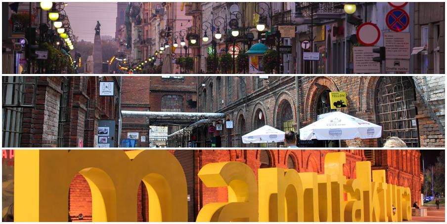 od góry: 1. ul. Piotrkowska / fot. Mariusz Cieszewski 2. OFF Piotrkowska / fot. Zorro 2212 3. Manufaktura / fot. Mariusz Cieszewski