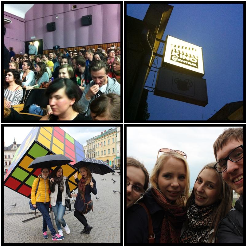 """1. Frekwencja na filmie """"Heavy Mental"""" 2. Jedno z miejsc, w których odbywa się przegląd - Kino Central 3. Trochę pada 4. Selfie na Zamkowym Wzgórzu. Do zobaczenia w Cieszynie!"""
