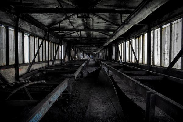 """""""...upadający przemysł"""" – to fotoreportaż, który uzyskał wyróżnienie, Autor: Pawel1234."""