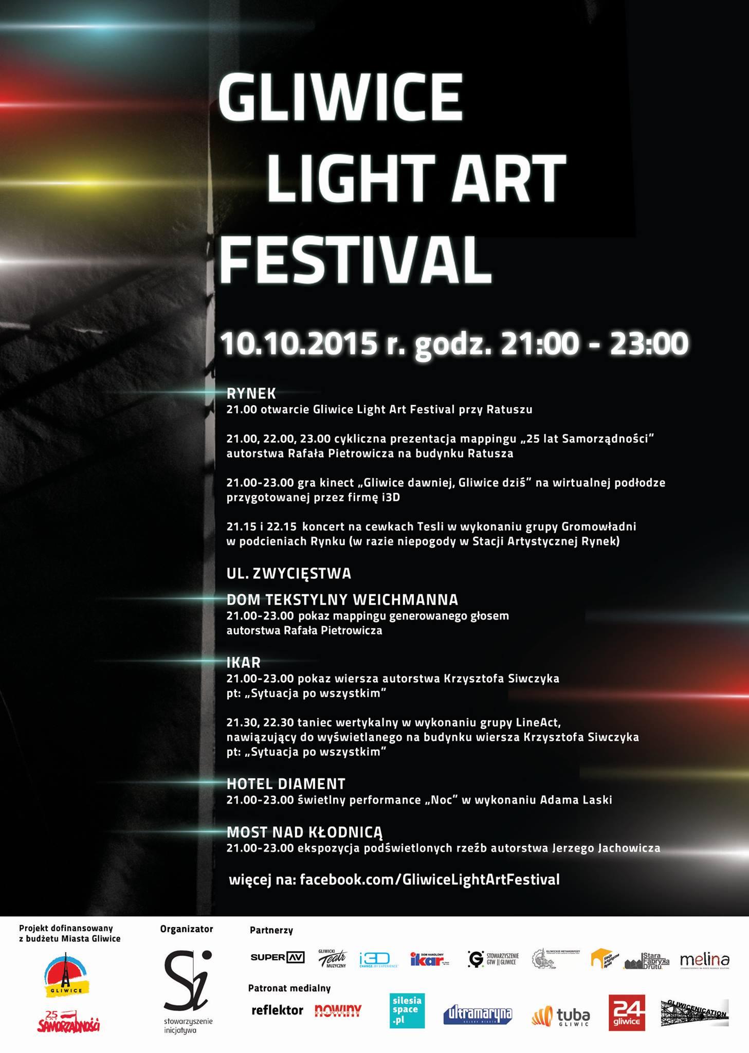 Gliwice Light Art Festival plakat