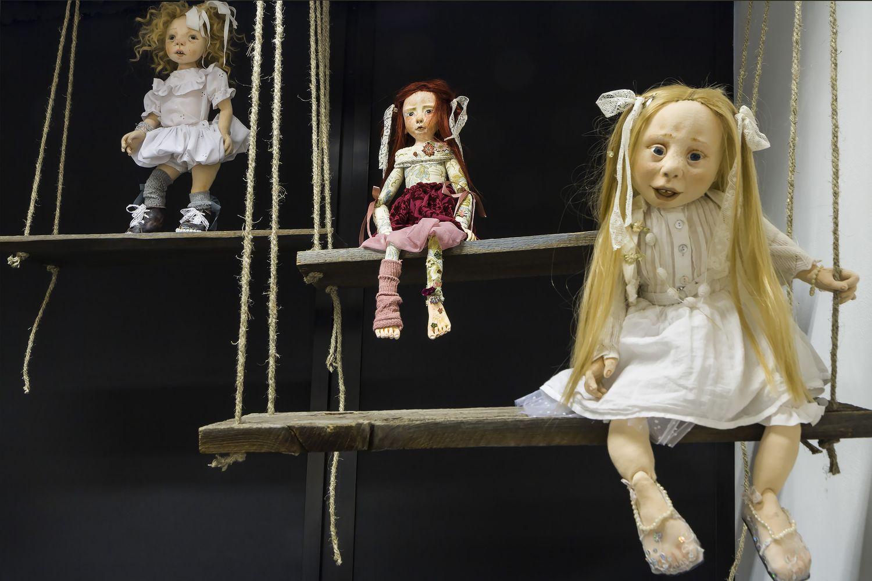 Lalki artystyczne autorstwa Renaty Gołaszewskiej-Adamczyk, fot. Krzysztof Morcinek