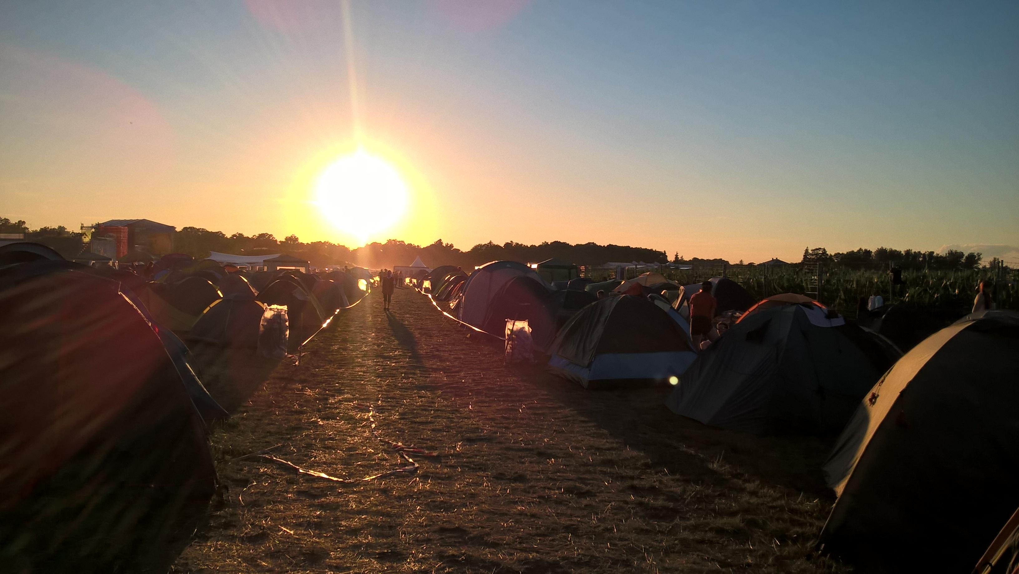 Taki tam widoczek z pola namiotowego