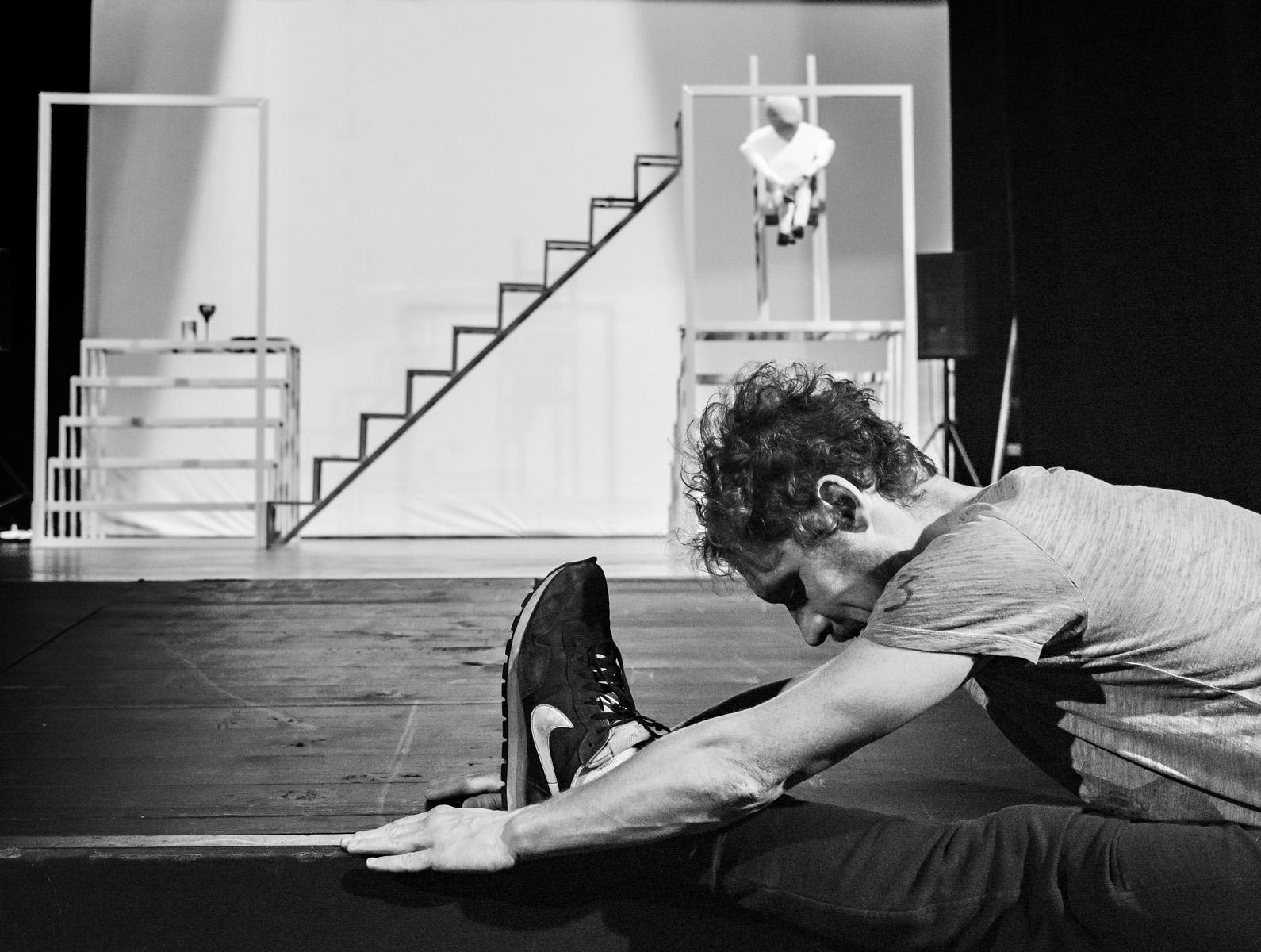 Choreograf Maćko Prusak na scenie