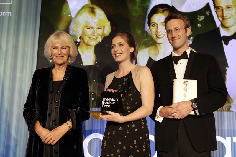 HRH The Duchess of Cornwall, Eleanor Catton and Robert Macfarlane, 2013 Chair of judges, fot. Janie Airey