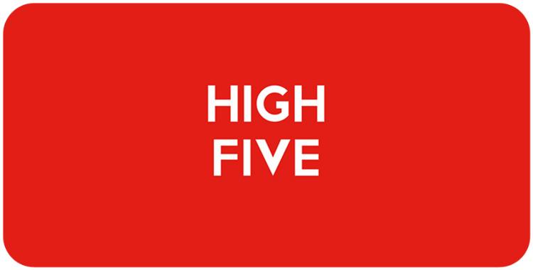 High Five round