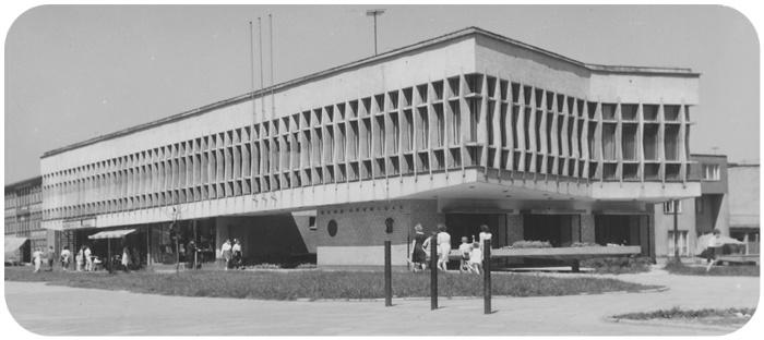 Pawilon Klubu Górniczego w Tychach, lata 60. Fot. Zygmunt Kubski, zbiory Muzeum Miejskiego w Tychach