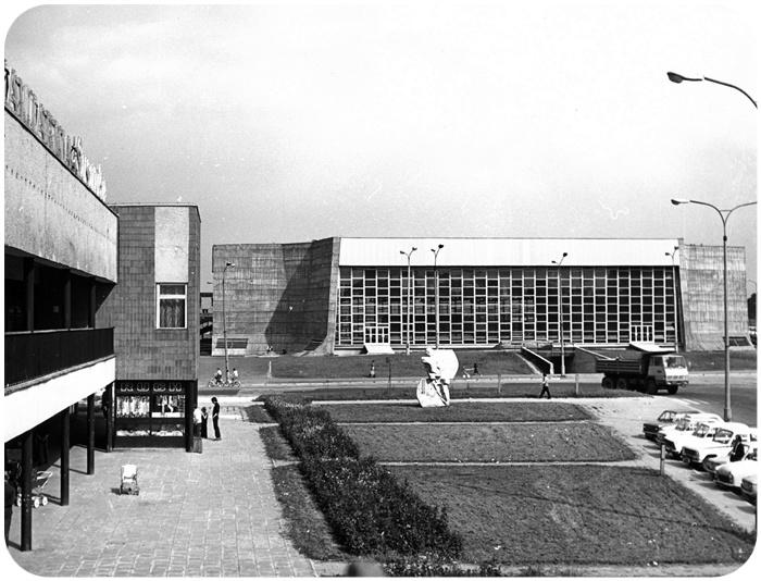 Hala sztucznego lodowiska w Tychach, ok. 1978. Fot. z archiwum Ewy Dziekońskiej