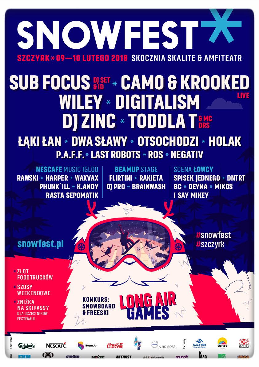 Plakat SnowFest 2018
